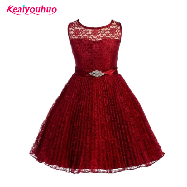 Children's Girl Dresses 2 to 12 Year Baby Girls Birthday Dress red Wedding Dresses For Girls Party School Wear Dress Vestidos