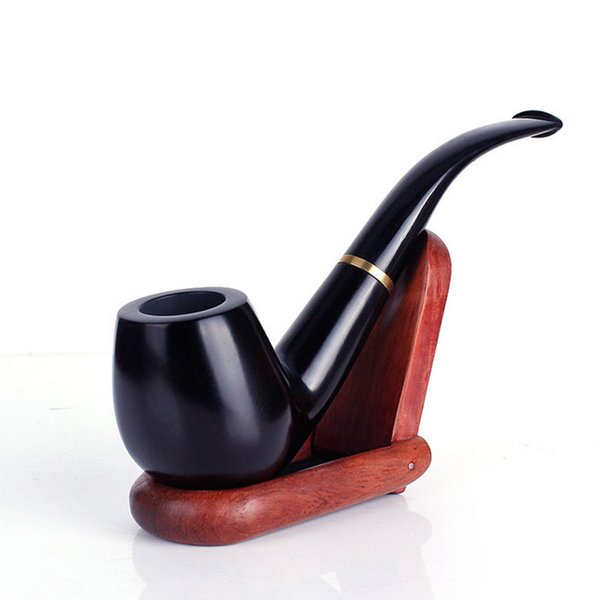 New High quality Wooden Hand Pipe Smoking Pipes 14.5cm Tobacco Cigarettes Cigar Pipes Portable Spoon Pipes Tools Xmas gifts