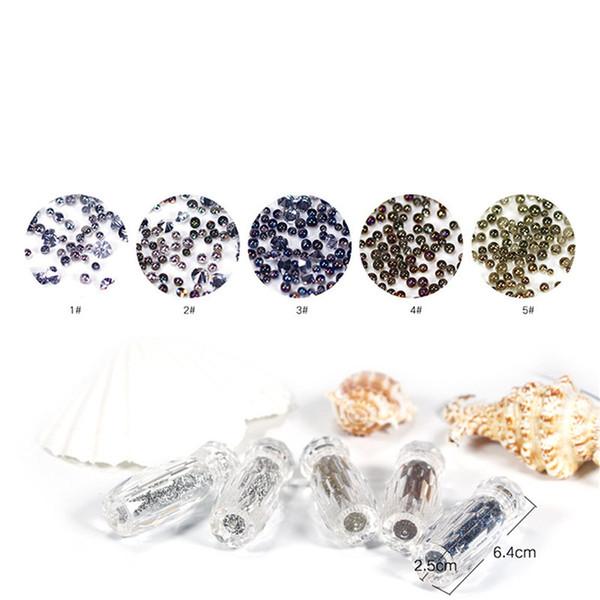 1 Bottle 2018 New Mini Glitter Caviar Micro Beads for DIY 3D Nail Art Rhinestone Decorations Diamonds Design Manicure Tools