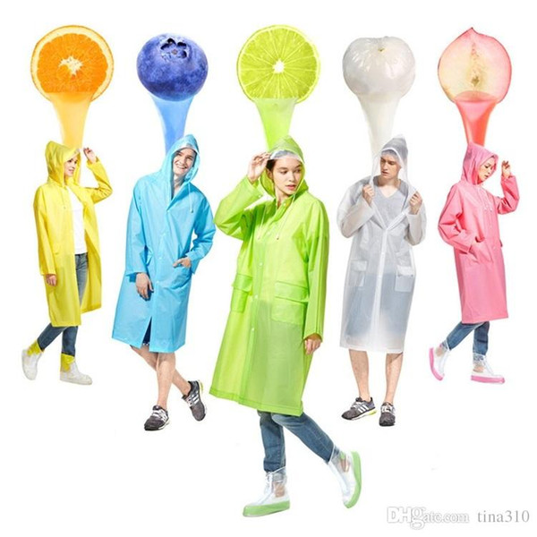 New candy color Rain Coat men women Raincoat Rainwear Waterproof poncho multi color Raincoat fashion raincoats IA026