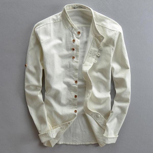 Brand designer - Plus Size Shirts Cotton Linen Men Shirt Long Sleeve Summer Style Hawaiian Shirts Sexy Slim Fit Men Clothes 2016 New Arrival