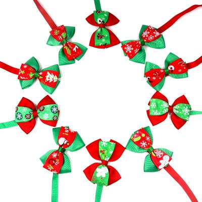 50pc/lot Christmas Holiday Dog Bow Ties Cute Neckties Collar Pet Puppy Dog Cat Ties Accessories Grooming Supplies P88