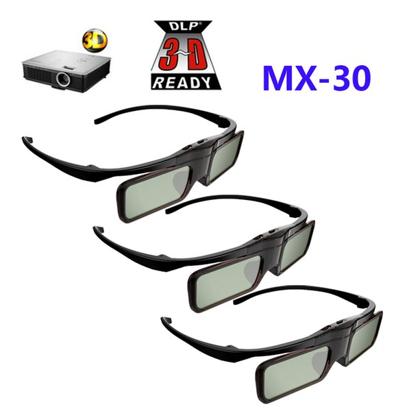 Gafas 3pcs Active Shutter 3D gafas DLP para BenQ W1070 / W750 / W1080ST Acer / Optoma / Dell 96-144HZ DLP-LINK proyectores