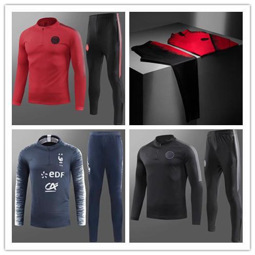 2018/19 French Two stars soccer jacket GRIEZMANN mbappe survêtements SWEATER psg x Jordam Training suit SIZE S-XL chandal set