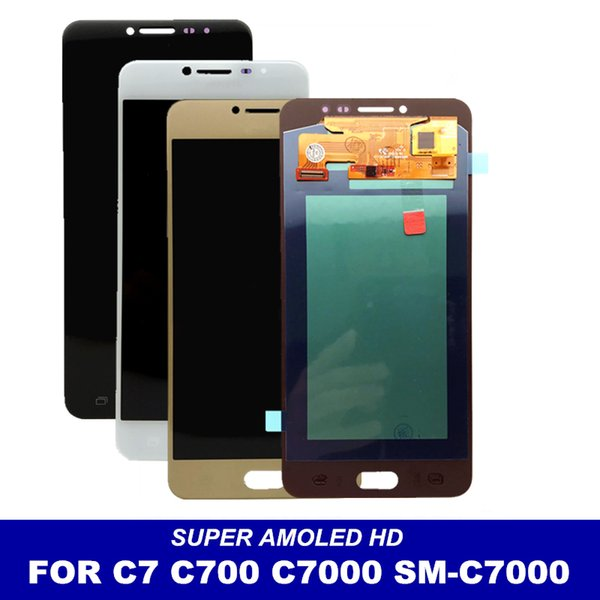 White/Black/Gold LCD Replacement For Samsung Galaxy C7 C7000 SM-C7000 Super AMOLED Display with Touch Screen Digitizer Assembly