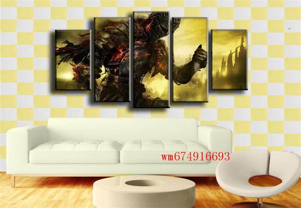Dark Souls 3 Videogiochi, 5 pezzi Home Decor HD Stampato Pittura di arte moderna su tela (senza cornice / con cornice)