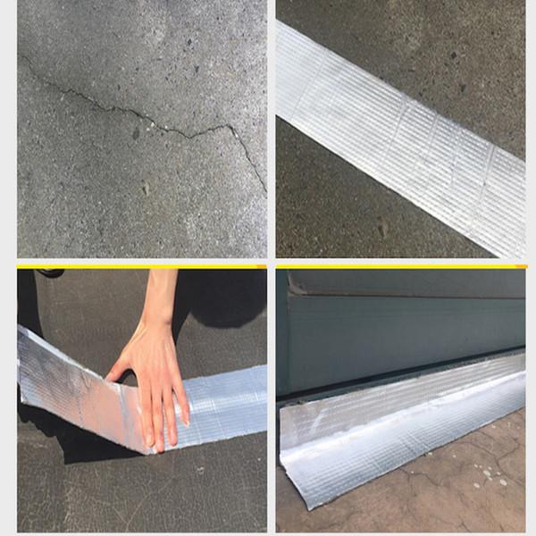 5CM*5M Quality Aluminium Foil Butyl Rubber Tape Pipe Glass Floor Roof Window Wall Waterproof Adhesive Sealer