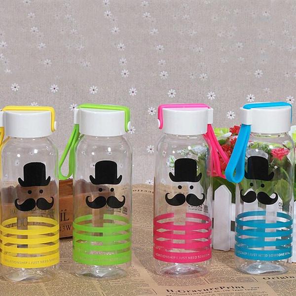 ZanNuo 2017 Summer New fashion water bottle Cartoon Tiger ducks beard pattern my green plastic water bottle Adult office cute