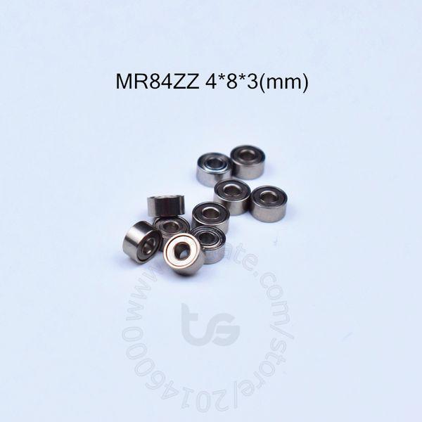 best selling MR84ZZ 4*8*3(mm) 10pieces bearing free shipping ABEC-5 Metal Sealed Miniature Mini Bearing MR84 MR84ZZ chrome steel bearing