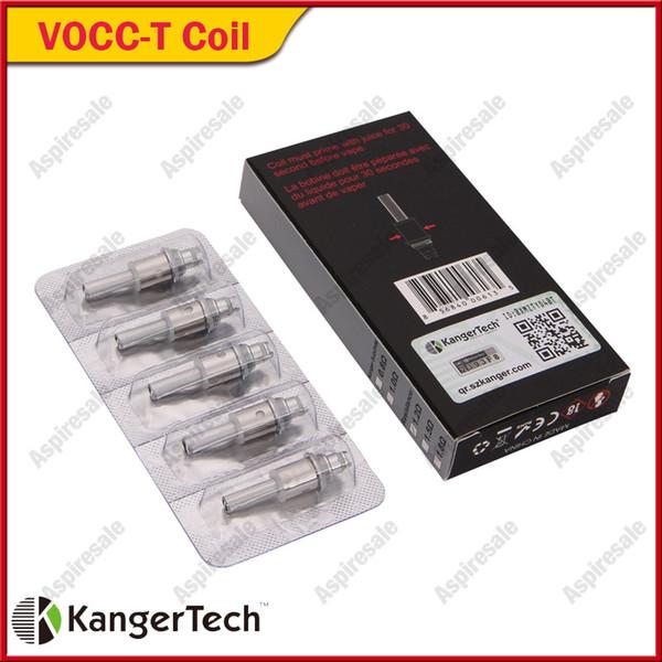 Kanger VOCC-T Coil For Topevod Kit VOCC T Coils Fit All Kanger Dual Coil Units Genitank Mini Protank 3 EVOD Glass Atomizers