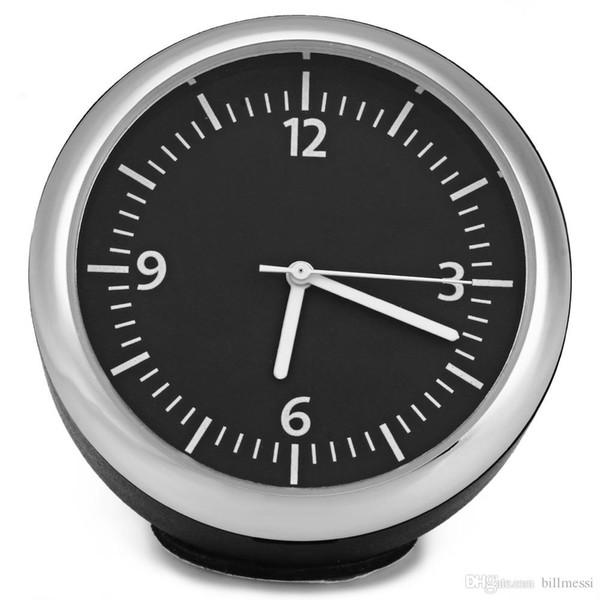 Luminova автомеханика кварцевые часы мини серебристые часы цифровой указатель для авто украшения поставки для 12 в авто время высокое качество + B