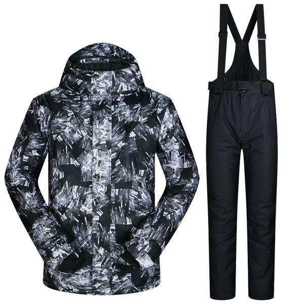 MUTUSNOW Men Ski Jacket Pant Skiing Snowboard Clothing Trouser Windproof Waterproof Super Warm Winter Suit Male Hooded Coat Pant