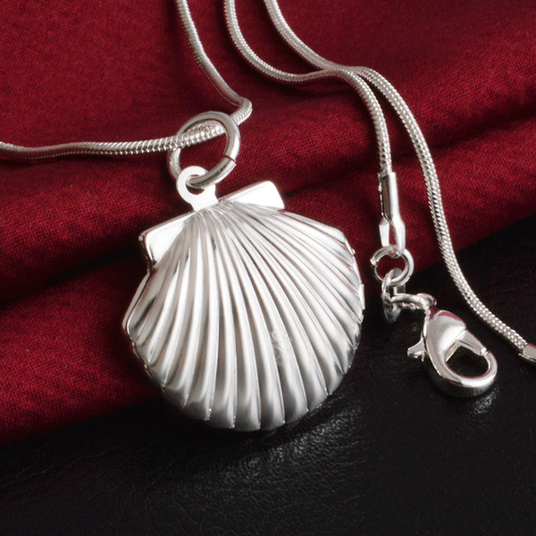 Silver Jewelry Pendant Fine Women's Clavicle Photo Box Pendant 925 jewelry silver plated Necklace Pendants Fashion gift necklace Top Quality