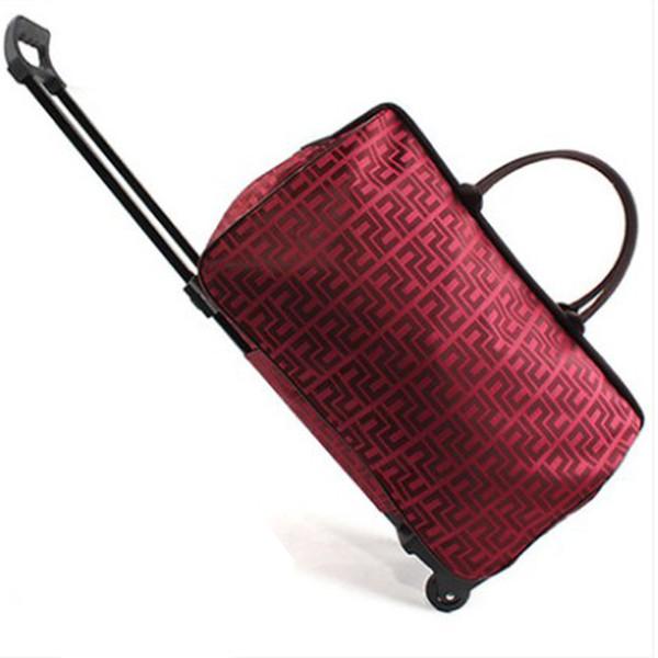 croftte / Men travel bag Waterproof Oxford wheel luggage duffle bag Unisex Foldable bags on wheels large capacity big trolley travel