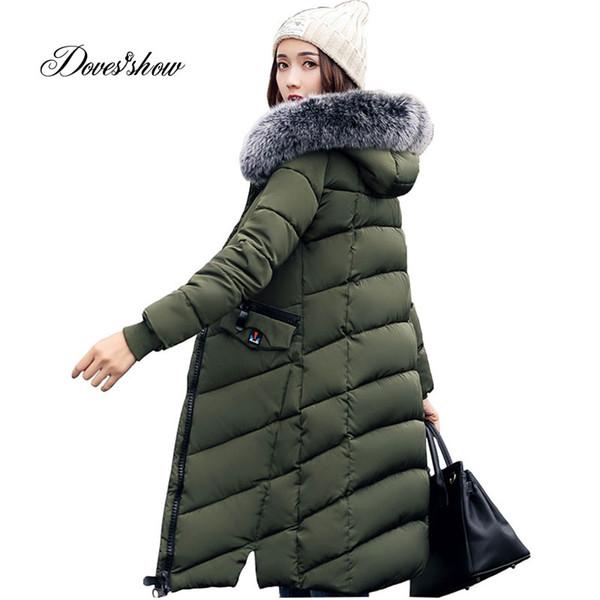 Women Winter Jacket Women Fashion Padded Coat Hooded Fur Collar Overcoat Parka Wadded Casaco Feminino Female Jacket XYG928