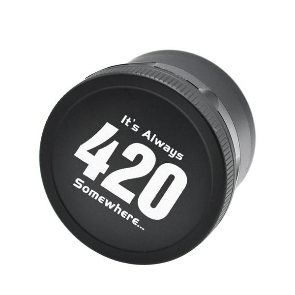 Le smerigliatrici in metallo 420 Grinders per erba asciutta 4 strati 63 millimetri 2.48 pollici nero argento oro frantoio di spezie di alta qualità