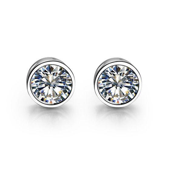 Princesse Coupe Diamant Argent Sterling 925 Femme Boucles d/'oreilles Clou