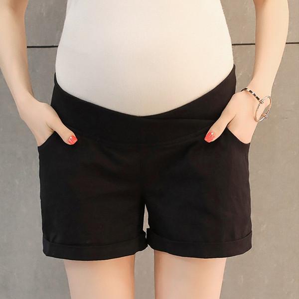 Низкая эластичная талия живот материнства шорты летняя мода хлопок шорты для беременных женщин беременность днища одежда