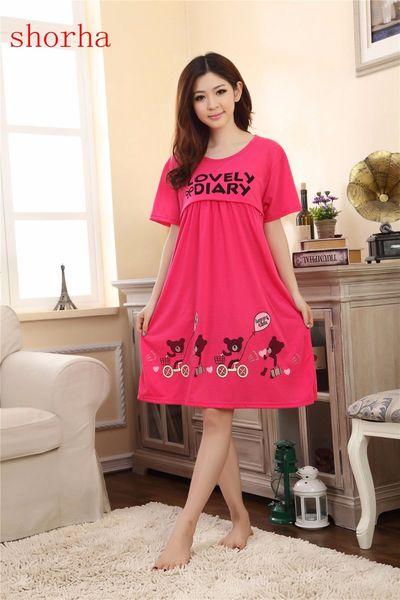 2018 Summer Short Sleeve Nightwear Maternity Dress Nursing Clothes Sleepwear Thin For Pregnant Women Pajamas Cartoon