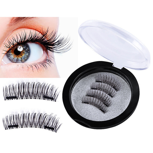 5d4ab65533d JIEFUXIN 3D Double Magnetic Eyelashes Natural Beauty No Glue Reusable Fake  Eye Lashes Extension Handmade Strip