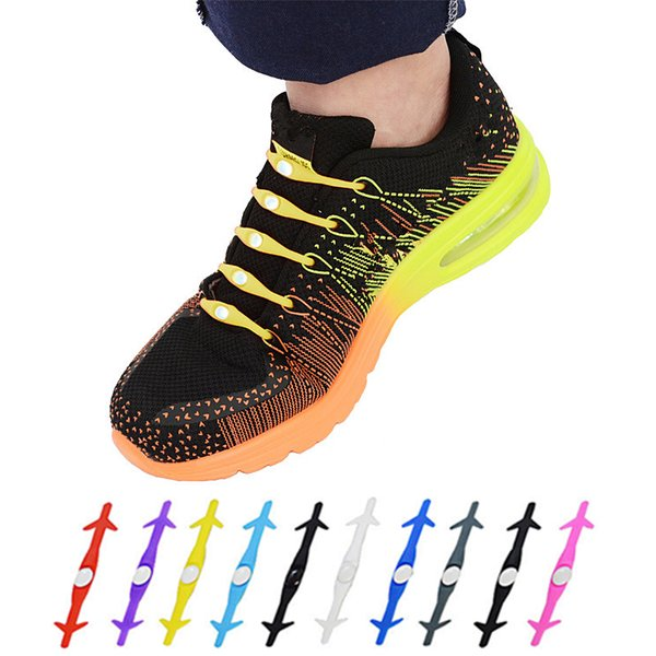 Shark-type silicone shoe laces 12 sets of multi-dimensional arrow shoe lace creative elastic sports shoes lace