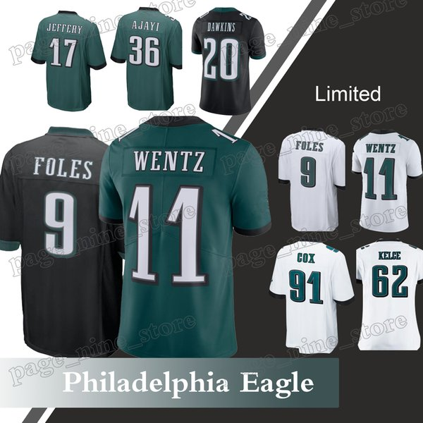 pretty nice ebadc 8098e 2018 Philadelphia Eagle Jerseys 88 Dallas Goedert 9 Nick Foles 62 Jason  Kelce 91 Fletcher Cox 17 Alshon Jeffery Jersey From Page_nine_store, $23.63  | ...