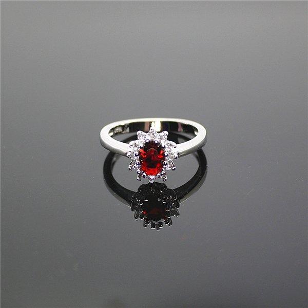 Color plateado platino cristal rojo