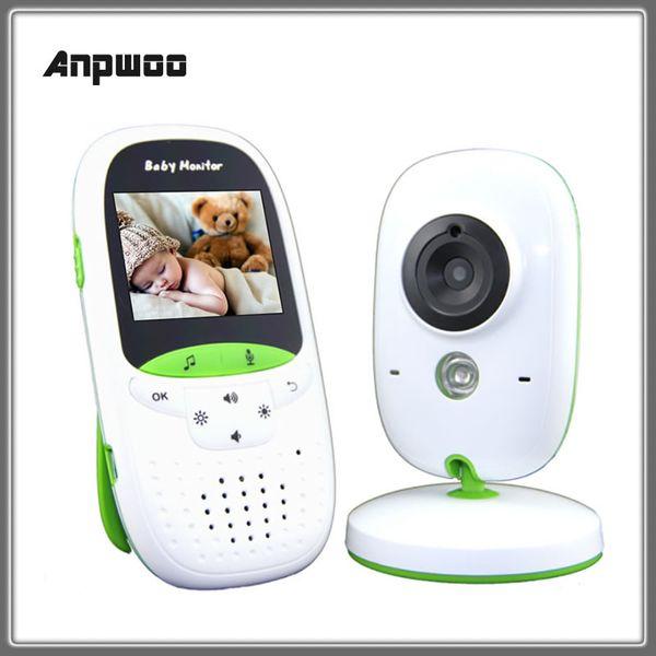 Nova Anpwoo VB602 2.4 polegada Sem Fio Bebê Monitor Eletrônico De Vídeo Do Bebê 2 Way Áudio Nanny Camera Night Vision Monitor de Temperatura