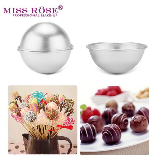 2pcs Half Round Metal Aluminum Bath Bomb Mold 3D Ball DIY Bathing Tool Accessories Creative Cake Baking Pastry Mould 8*3.4CM