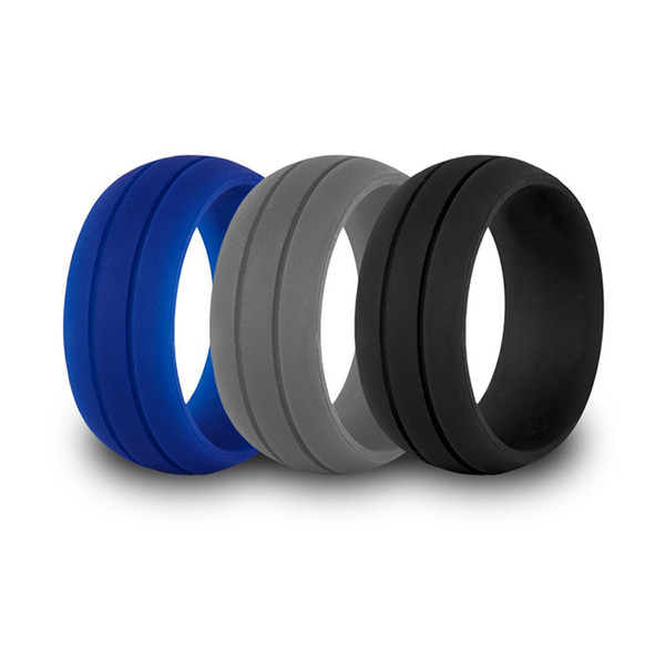 top popular Parallel Silicone Rings Flexible Rubber Women Men's Ring Outdoor Sports Wedding Decoration Ultra-thin and Light Silicone Jewelry 2019