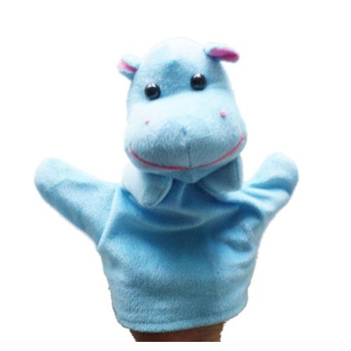 Cute Baby Child Zoo Farm Animal Hand Sock Glove Puppet Finger Sack Plush Toy NewModel:Hippo
