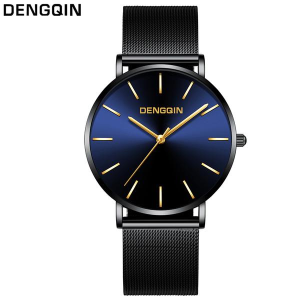 Watch Quarz Design Ultradünne Business Masculino Relogio Herren Top Großhandel Uhren Armbanduhr Männer Einfache Von Marke Edelstahl Dengqin QxtshdCBr