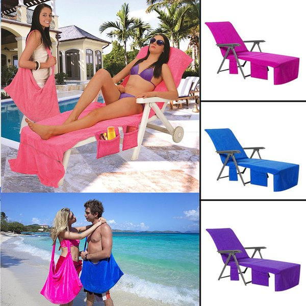 Outdoor Pads mat 215*75CM Beach Lounge Chair Covers Summer Party Sunbath Lounger Beach Chair Cover Towels