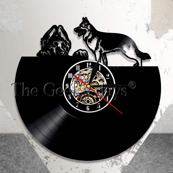 Compre La Arte Pared Hogar Diferentes Reloj Cachorro Contemporáneo Razas Para Perros Decoración Vinilo De El HIWD9E2