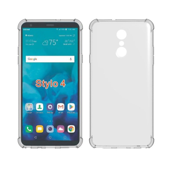 China Newest Transparent 2 In 1 Acrylic Back And Soft Tpu Bumper 4 Corners Edge Shockproof Mobile Phone Covers Case For LG Stylo4