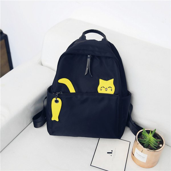 School Wind Both Shoulders Package 2018 New Pattern Korean Hit Color  All-match Small Fresh Student A Bag Leisure Time Small Backpack e0730335b37d6