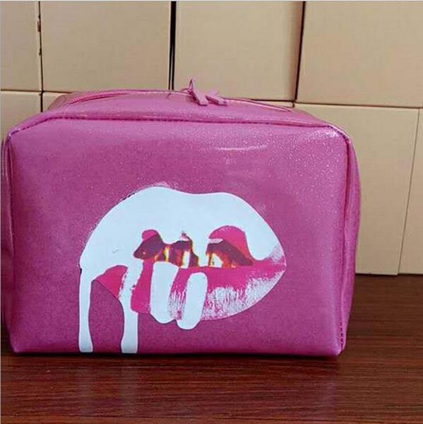 Bolsos de color rosa Cosméticos Cumpleaños Paquete Cobre Sombra Sombra Kit de labios Maquillaje Bolsa de almacenamiento