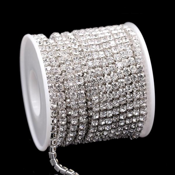 10M Wedding Bridal Rhinestone Chain Crystal Ribbon Sparkle Diamante Gem Trim