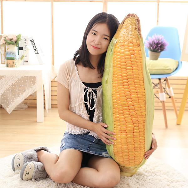 2018 nouvelle simulation maïs oreiller légumes créatifs en peluche jouet poupée chiffon poupée coussins enfants cadeaux danniversaire pour garçons et fille