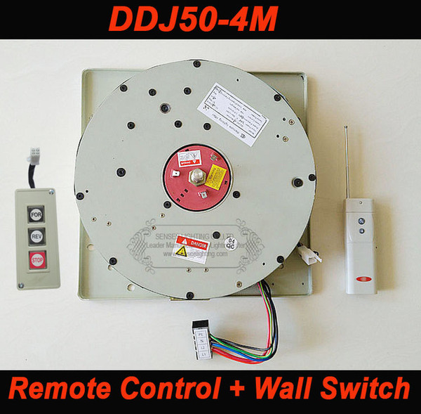 DDJ50 50KG 4M Wall Switch+Remote Controlled Lighting Lifter Chandelier Hoist Lamp Winch Light Lifting System AC 85-265V