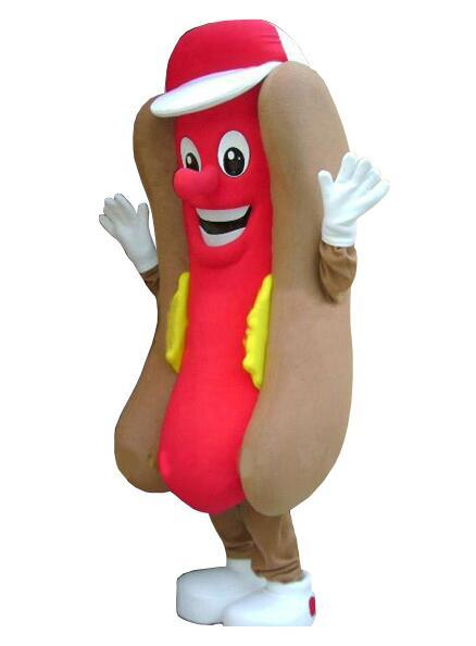 2018 Adult Professional Deluxe Hot Dog No Mustard Mascot Costume Mask Fastfood with free shipping