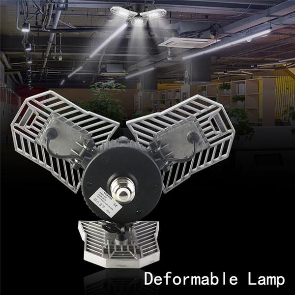 60 Watt Led Deformable Lampe Garage licht E27 LED Mais Birne Radar Hause Beleuchtung Hohe Intensität Parkplatz Lager Industrie lampe