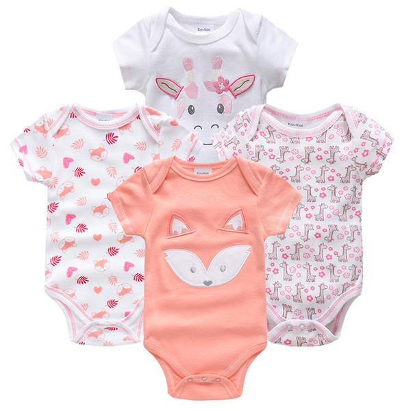 Kavkas Newborn Baby Girl Rouupa De Short Sleeve Summer Outdoor Costume Baby Girl Jumpsuit