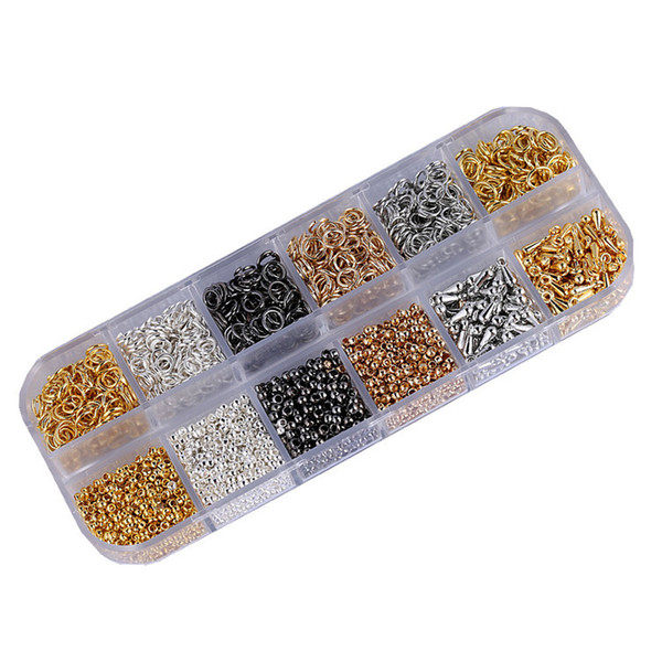 Jewelry Findings Set DIY Jewelry Beading Making Kit With Crimp Beads Jump Rings Droplets Pendant Gift Free DHL G187L