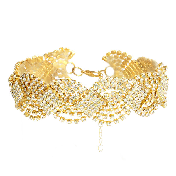 Rhinestone Crystal Choker collar para mujeres accesorios de boda Punk gótico gargantillas collar joyería Femme Collier por mayor