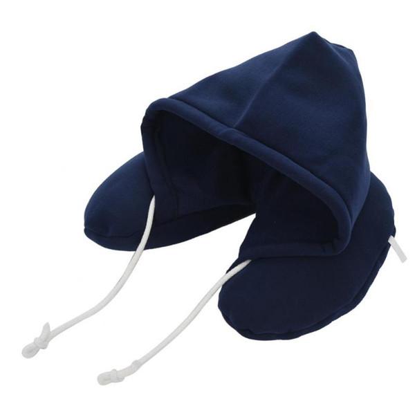 Hooded Neck Cervical Pillow Portable U Shaped Rest Cushion Comfortable Foam Neck Pillow Accessories