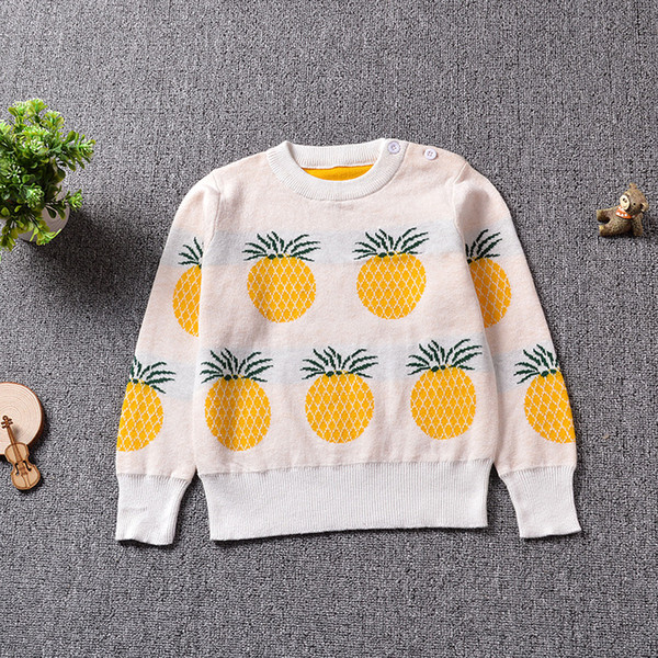 Baby Girls Boys Kids Sweater Autumn Winter Sweatershirt Tiny Cottons Sweater Knitted Pullover Warm kid clothing WUA88Y88
