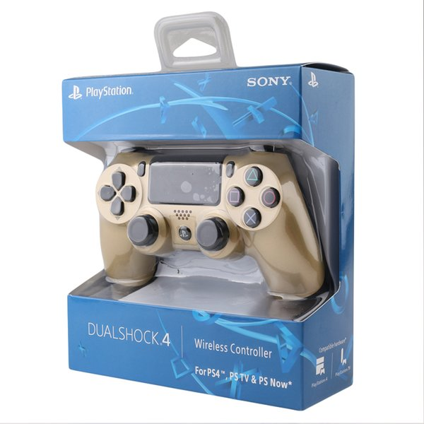 Gold/Silver PS4 Wireless Bluetooth Game Gamepad SHOCK4 8 Color Controller Playstation For Sony PS4 Controller DHL with retail box