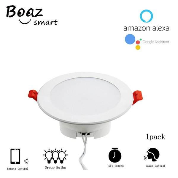 Smart Downlight RGBW 4 Inch 10w Color Changing Wifi Lamp Phone Voice  Control Works With Alexa Echo Google Home Assistant IFTTT Downlights For  Kitchen