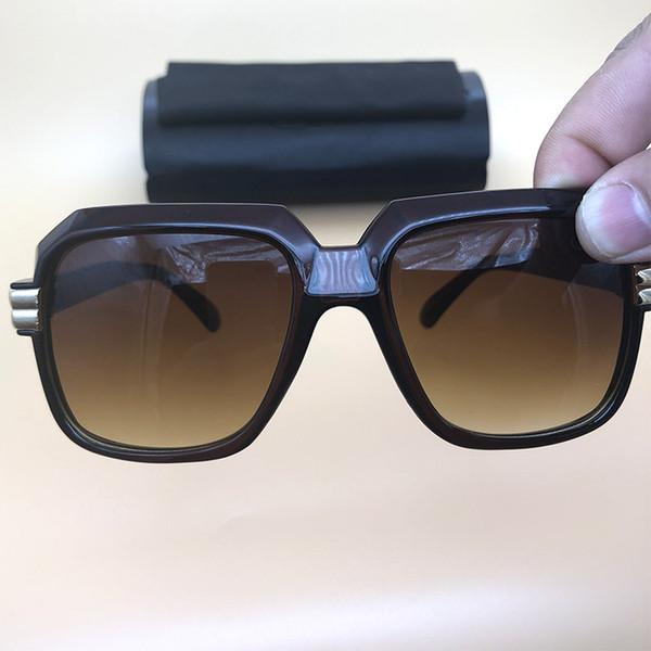 0a3f0246a5 Gafas de sol Acetate Marco marrón Lentes naranjas Anteojos Para hombre Para  mujer Marcos de plástico
